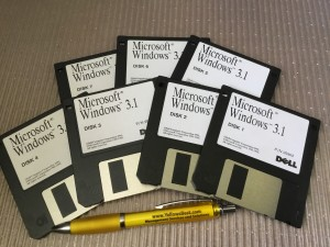 Windows 3.1 floppy disks
